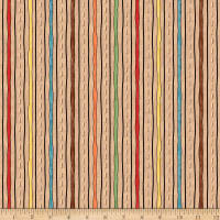 QT Fabrics Wild Things Stripe Tan