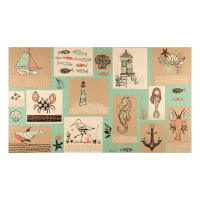 "Give Me The Sea Patch 24"" Panel Multi"