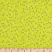Playful Cuties Flannel 2 Dots Green