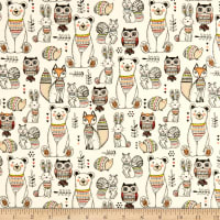 Woodland Tribe Animals White