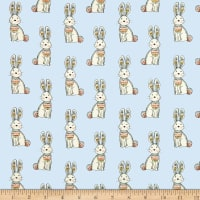 Woodland Tribe Bunnies Blue