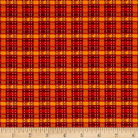 Pumpkin Spice Plaid Red