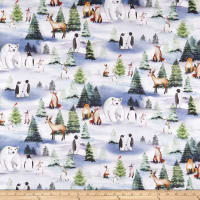 Winter Wonderland Forest Animals White