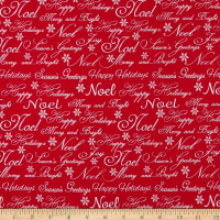 Christmas Garden Words Red
