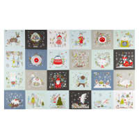 "Happy Holidays Patch Print 25"" Panel Multi"