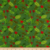 Holiday Joy Holly  Green