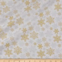 Merry Forest Snowflakes Metallic White