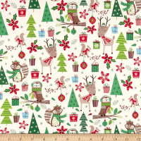 Merry Forest Woodland Friends Cream