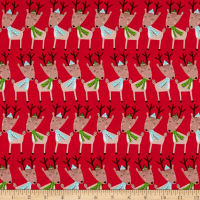 Merry Forest Reindeer Red