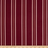 Double Brushed Poly Jersey Knit Double Stripe Burgundy