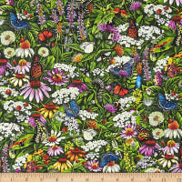 Frolicking Fields Flowers & Insects Multi