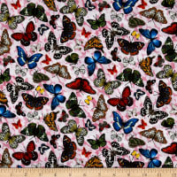 Frolicking Fields Tossed Butterflies Pink/Multi