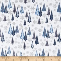 Designer Essentials Mid Century Christmas Trees Blue