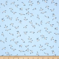 Andover/Makower UK Beachcomber Seagulls Blue