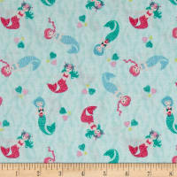 Andover/Makower Mermaid Scatter Teal