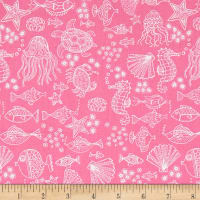 Andover/Makower Mermaid Outline Tonal Pink