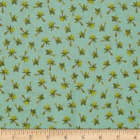 Andover/ Makower UK Rex Palm Trees Teal