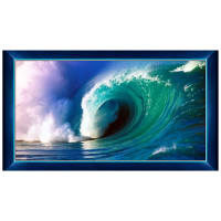 "QT Fabrics Artworks IX Wave 24"" Panel Blue"