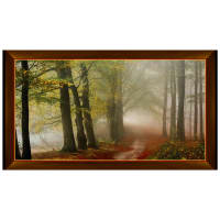 "QT Fabrics Artworks IX Morning Mist Trees 24"" Panel Multi"