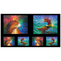 "QT Fabrics Artworks IX Eagle & Wave 24"" Panel Ombre Multi"