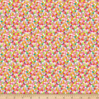 QT Fabrics Elephant Parade Scalloped Geometric Pink
