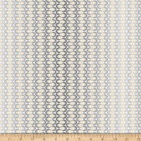 QT Fabrics Enchanted Floral Wavy Stripe Gray
