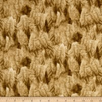QT Fabrics Flying Geese Feathers Dark Tan
