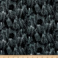 QT Fabrics Flying Geese Feathers Navy