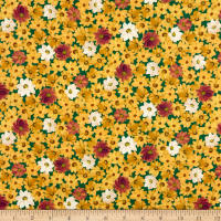 QT Fabrics Lilian Packed Floral Dark Teal