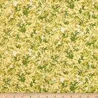 QT Fabrics Lilian Leaf Spray Green