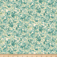 QT Fabrics Lilian Leaf Spray Teal