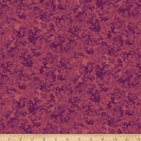 QT Fabrics Lilian Leaf Spray Plum