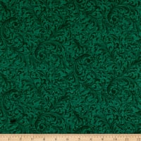 QT Fabrics Lilian Textured Scroll Dark Teal
