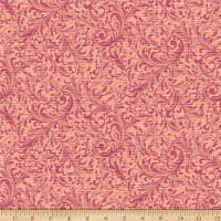 QT Fabrics Lilian Textured Scroll Plum
