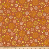 QT Fabrics Marlena Dotted Circles Brown