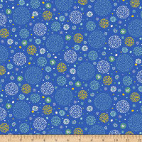 QT Fabrics Marlena Dotted Circles Royal