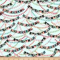 QT Fabrics Piece Of Cake Banners Light Aqua