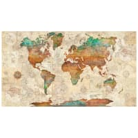"QT Fabrics Wanderlust World Map 24"" Panel Multi"