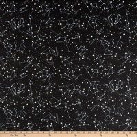 QT Fabrics Intergalactic Constellations Black