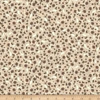 QT Fabrics Lost Song Packed Flowers Cream