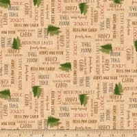 QT Fabrics Moose Trail Lodge Lodge Lingo Dark Cream
