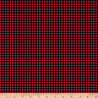 QT Fabrics Moose Trail Lodge Plaid Red