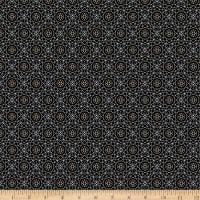 QT Fabrics Whisper Geometric Black