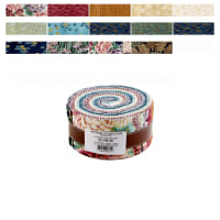 Kaufman Imperial Collection Roll Ups 40 Pcs. Metallic Garden