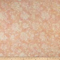 Timeless Treasures Tonga Batik Lush Floral Scroll Blush