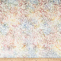 Timeless Treasures Tonga Batik Lush Paisley Wine