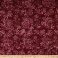 Timeless Treasures Tonga Batik Lush Fossil Leaf Ruby