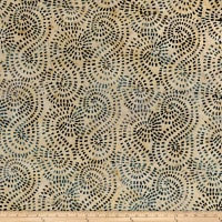 Timeless Treasures Tonga Batik Boathouse Mosiac Swirl Buff