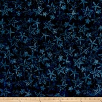 Timeless Treasures Tonga Batik Boathouse Spikey Flower Deep