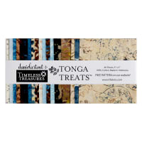 "Timeless Treasures Tonga Batik Treat Boathouse 5"" Square Pack Boathouse"